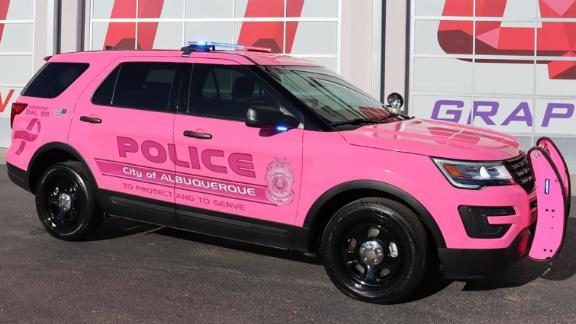 The Albuquerque Police Department is raising breast cancer awareness with this hot pink patrol car