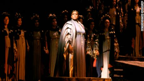 "Soprano Jessye Norman in 1983 as Cassandre in Berlioz' ""Les Troyens,"" the role of her Metropolitan Opera debut in New York."