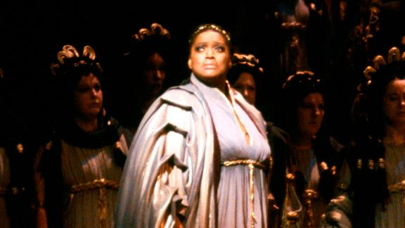 Soprano Jessye Norman in 1983 as Cassandre in Berlioz