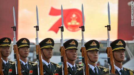 China shows off military in anniversary parade