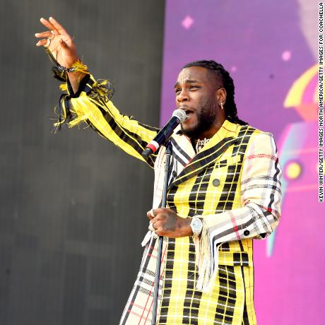 Burna Boy performs on Coachella Stage during the 2019 Coachella Valley Music And Arts Festival on April 14, 2019 in Indio, California.