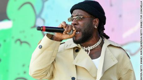 Burna Boy performs at Coachella Stage during the 2019 Coachella Valley Music And Arts Festival on April 21, 2019 in Indio, California.