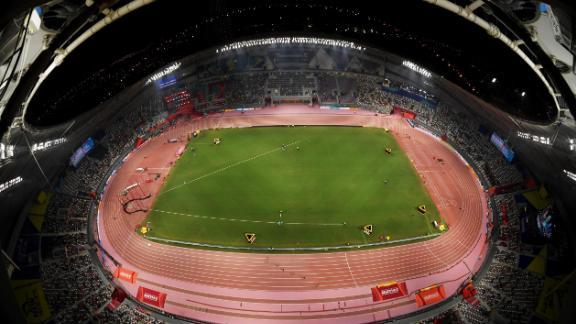 A general view of the Khalifa International Stadium.