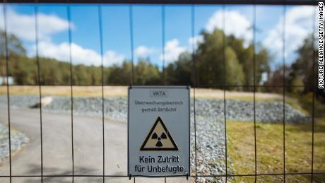 19 September 2019, Saxony, Dresden: A sign on the fence of the site of the former nuclear reactor of the Rossendorf Research Centre warns against entering. The decommissioning and removal of the nuclear facilities, which had lasted more than 20 years, was declared complete today and the fence was opened. This means that the reactor with the abbreviation RFR is no longer a component of the Atomic Energy Act and is released from nuclear supervision. Photo: Oliver Killig/dpa-Zentralbild/dpa (Photo by Oliver Killig/picture alliance via Getty Images)