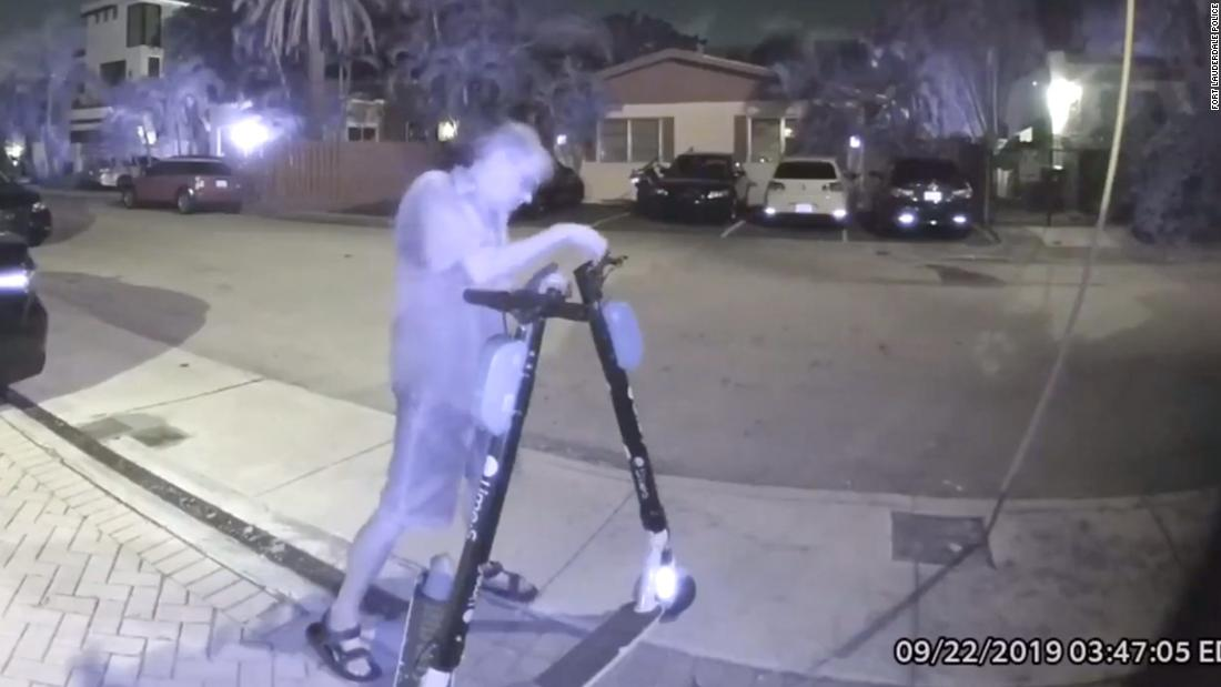 Man caught cutting brakes on electric scooters