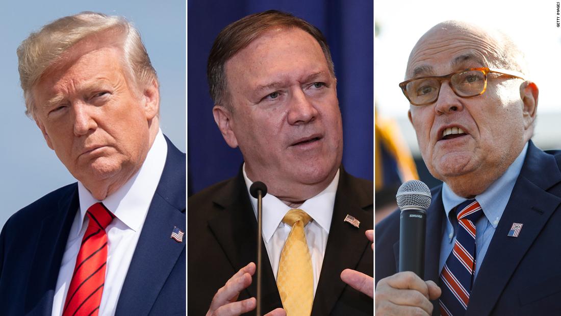 Weiße Haus half, Sie zu organisieren rufen Sie zwischen Giuliani und Pompeo nach der übergabe von Biden Vorwürfe