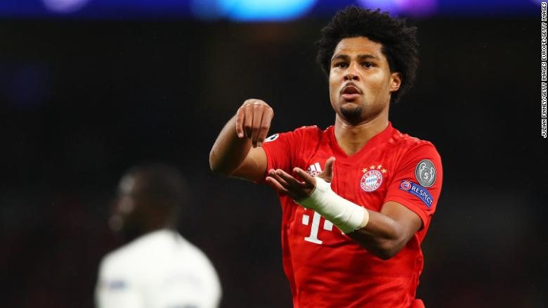 Serge Gnabry scored four as Bayern Munich thrashed Tottenham.