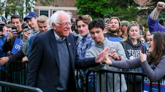 Sanders campaigns at the University of New Hampshire in September 2019. A few days later, he took himself off the campaign trail after doctors treated a blockage in one of his arteries. Sanders suffered a heart attack, his campaign confirmed.