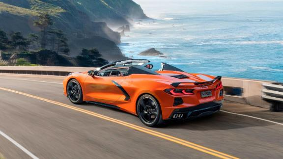 Usually, convertible tops can only be raised or lowered while a car is stopped. The Corvette's convertible top can go up or down at speeds of up to 30 miles an hour.