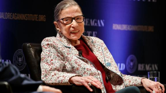 Supreme Court Justice Ruth Bader Ginsburg, smiles as she attends a panel discussion celebrating Sandra Day O'Connor, the first woman to be a Supreme Court Justice, Wednesday September 25, 2019, at the Library of Congress in Washington.