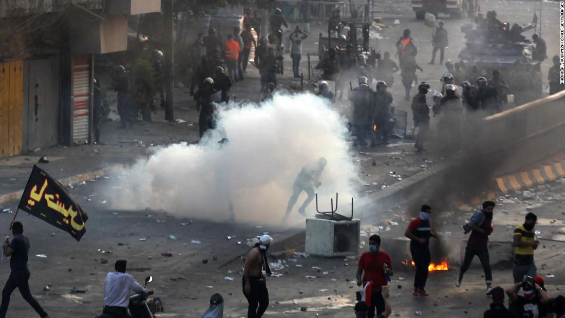 Curfews and internet blockages as death toll from protests mounts in Iraq
