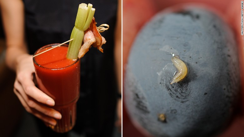 The tomato juice in that 14 oz. Bloody Mary could legally contain up to four maggots and 20 or more fruit fly eggs. Canned tomatoes, tomato paste and sauces such as pizza sauce are a bit less contaminated, with the FDA allowing nearly two maggots in a 16 oz. can.