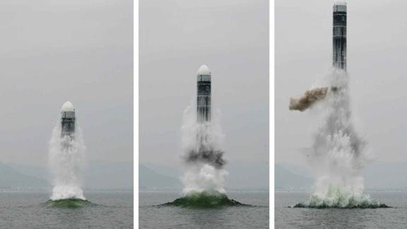 North Korea says it test fired a new type of a submarine-launched ballistic missile (SLBM) on Wednesday, the country's state-run KCNA reported Thursday morning.