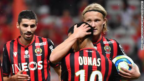 Kasper Dolberg's (R) watch, reportedly worth $76,000, was stolen from the changing room.