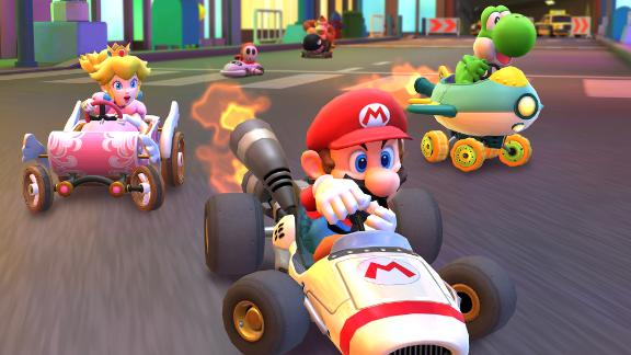 "Players can compete with characters like Mario and Princess Peach in the new mobile game ""Mario Kart Tour."""