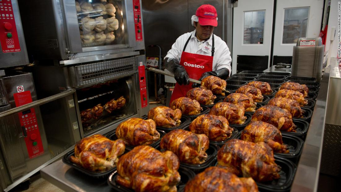 Costco's $4.99 birds. The company sold more than 90 million rotisserie chickens last year.