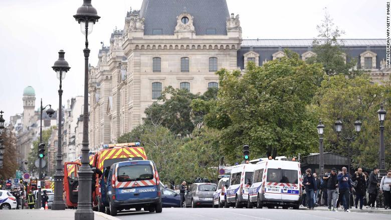 Knife attacker shot dead inside Paris police headquarters