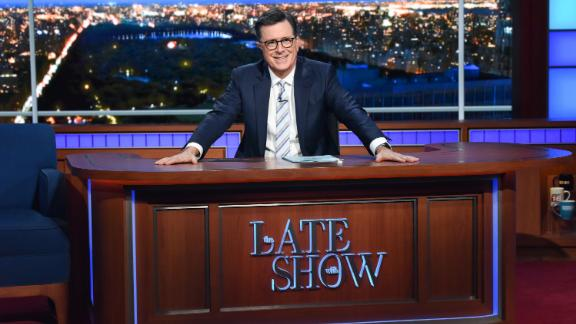 NEW YORK - SEPTEMBER 9: The Late Show with Stephen Colbert during Monday's September 9, 2019 show. (Photo by Scott Kowalchyk/CBS via Getty Images)