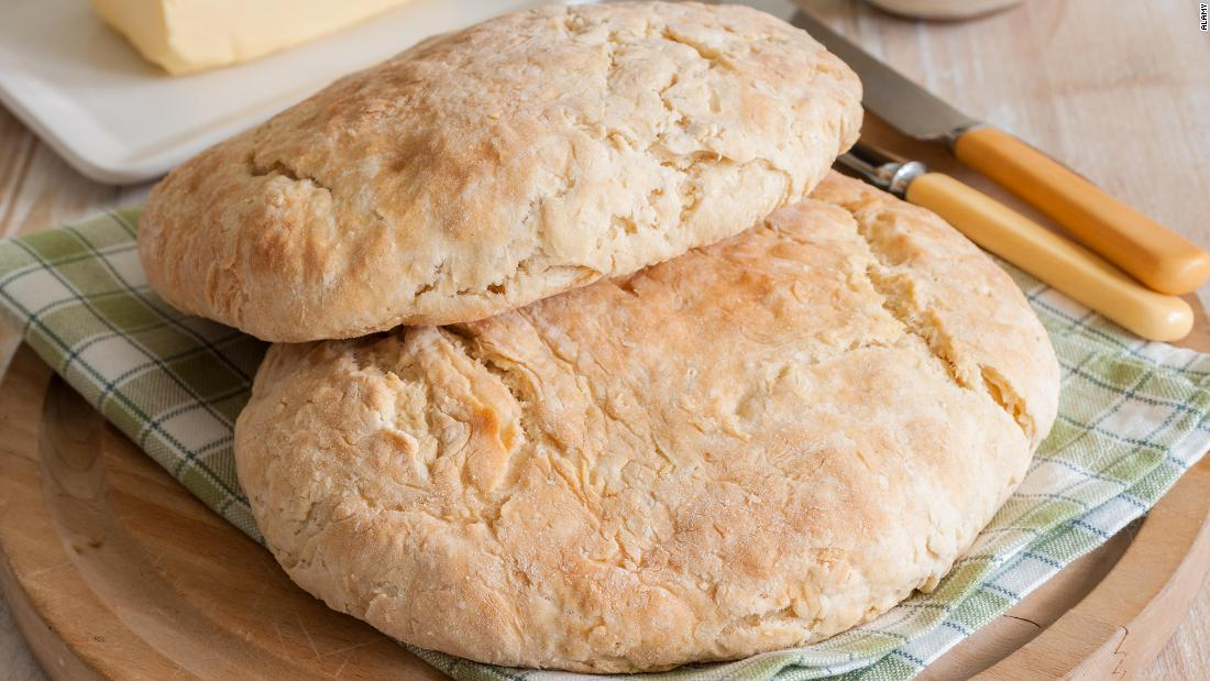 <strong>Damper bread, Australia. </strong>This bread is a simple blend of water, flour and salt that can be cooked quickly over a fire.