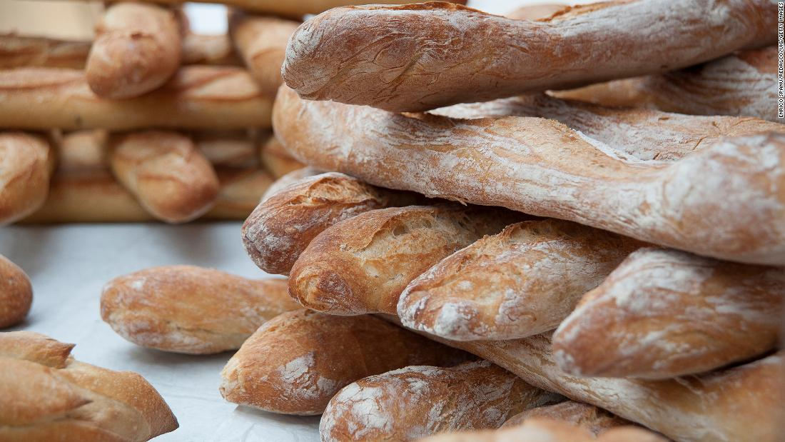 <strong>Baguette, France. </strong>The baguette is a relatively recent invention. According to Paris food historian Jim Chevallier, long, narrow breads similar to modern baguettes gained prominence in the 19th century.