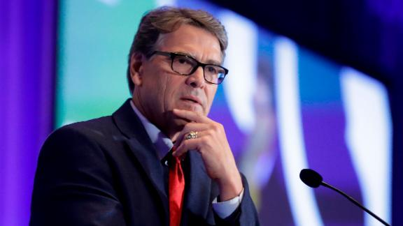 U.S. Energy Secretary Rick Perry speaks at the California GOP fall convention Friday, Sept. 6, 2019, in Indian Wells, Calif. (AP Photo/Chris Carlson)