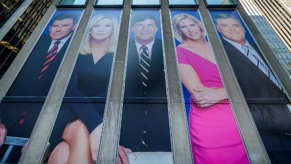 MANHATTAN, NEW YORK, NY, UNITED STATES - 2019/03/13: Giant portraits of the news anchors at Fox News headquarters building in New York City. (Photo by Erik McGregor/LightRocket via Getty Images)