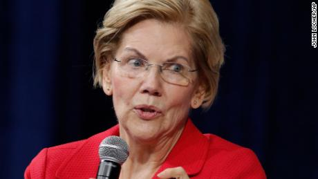Democratic presidential candidate Sen. Elizabeth Warren, D-Mass., speaks during a gun safety forum Wednesday, Oct. 2, 2019, in Las Vegas. (AP Photo/John Locher)