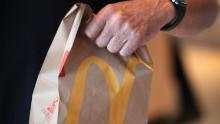 CHICAGO, IL - JUNE 04:  Food is served at a McDonald's restaurant located inside the comapany's new corporate headquarters on June 4, 2018 in Chicago, Illinois.  McDonald's headquarters recently returned to the Chicago, which it left in 1971, from suburban Oak Brook. Approximately 2,000 people will work from the building.  (Photo by Scott Olson/Getty Images)