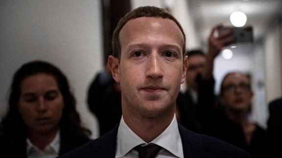 Facebook CEO Mark Zuckerberg walks to meetings for technology regulations and social media issues on September 19, 2019, in Capitol Hill, Washington, DC.