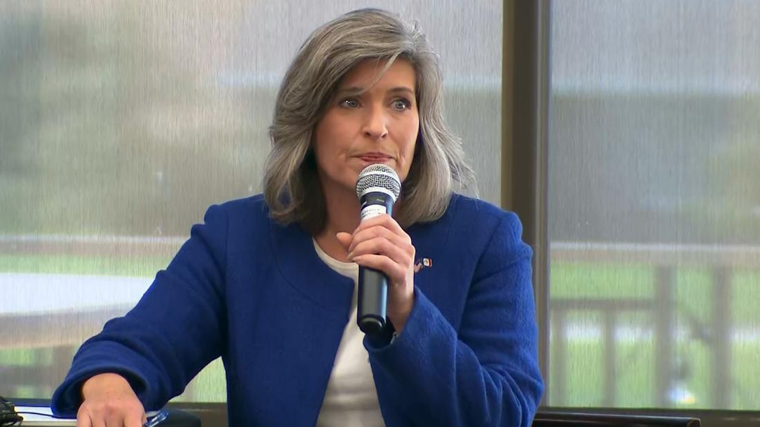 Ernst confronted by Iowan constituent for not 'standing up' to Trump