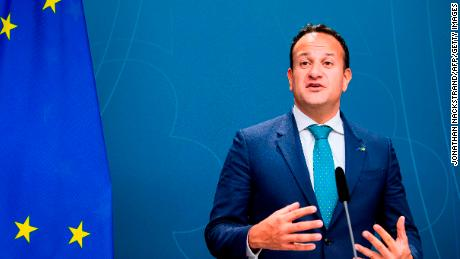 Leo Varadkar gives a press conference in October 2019.