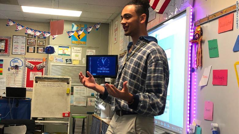 Kyle Fersner signed up for his high school's teacher cadet program in South Carolina.