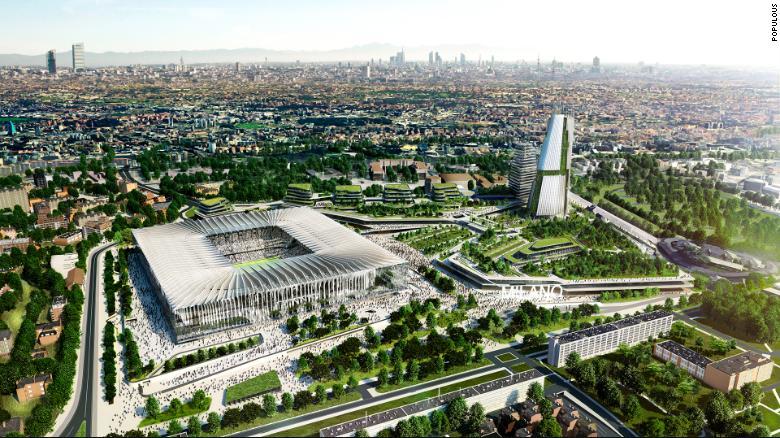 & quot; มหาวิหาร & quot;  ออกแบบโดย Populous ดึงดูดแรงบันดาลใจจากอาคารที่โดดเด่นที่สุดของ Milano สองแห่ง  Duomo และ Galleria