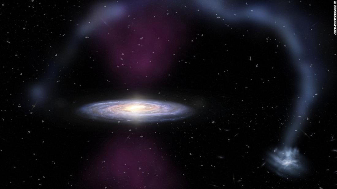Pusat galaksi bima Sakti meledak ketika kuno nenek moyang manusia berjalan di muka Bumi