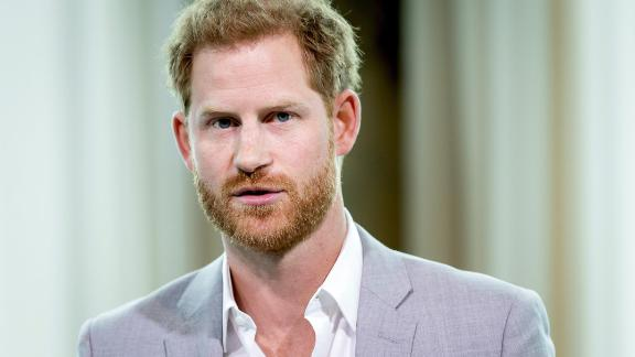 Britain's Prince Harry attends the Adam Tower project introduction and global partnership between Booking.com, SkyScanner, CTrip, TripAdvisor and Visa in Amsterdam on September 3, 2019 an initiative led by the Duke of Sussex to change the travel industry to better protect tourist destinations and communities that depend on it. (Photo by Koen van Weel / ANP / AFP) / Netherlands OUT        (Photo credit should read KOEN VAN WEEL/AFP/Getty Images)