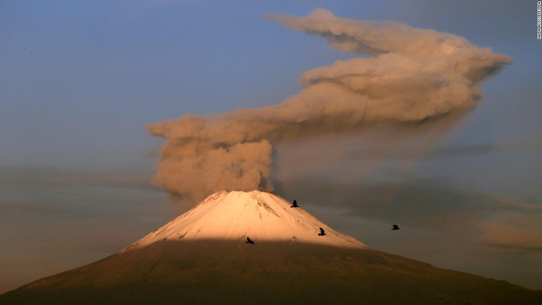Mexico's Popocatépetl volcano erupted 14 times in one night