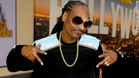Snoop Dogg, shown here at a movie premiere in Los Angeles, played for about 35 minutes to University of Kansas students