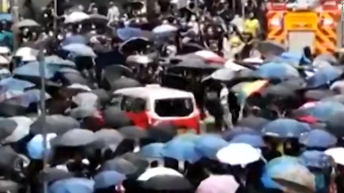 Hong Kong could be at 'tipping point' as warning flag unfurled at Chinese military barracks