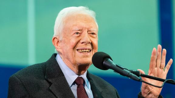 Former President Jimmy Carter at an annual Carter Town Hall held at Emory University in Atlanta on September 18, 2019.