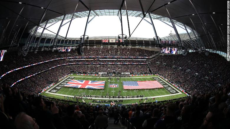 This was the first NFL game at Tottenham Hotspur Stadium.