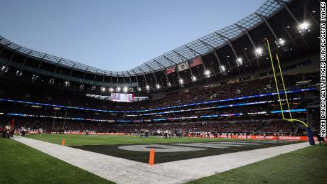 Sunday's game was the first of four NFL games to be played in London this season.