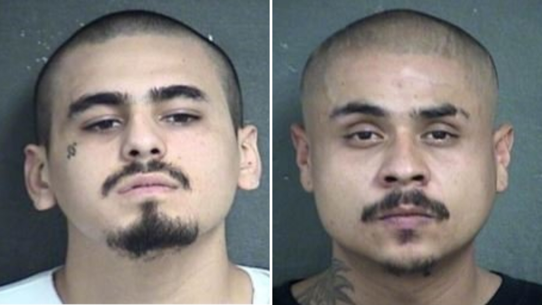Javier Alatorre (left) was arrested Sunday in connection with the deadly bar shooting. Hugo Villanueva-Morales (right) is still on the run and considered armed and dangerous.