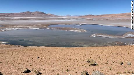 The Quisquiro salt flats in Altiplano, South America, which scientists believe resemble Mars' ancient lakes.