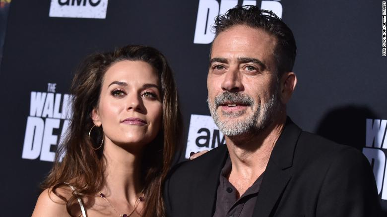 Jeffrey Dean Morgan and Hilarie Burton attend the Season 10 Premiere of 'The Walking Dead' at Chinese Theatre in Hollywood, California, on September 23, 2019.