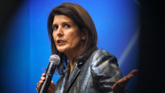 Nikki Haley, former U.S. ambassador to the United Nations, speaks during the Skybridge Alternatives conference in Las Vegas, Nevada, in May 2019.