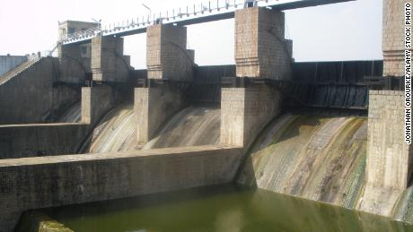 Pambar Dam is a popular tourist spot in Tamil Nadu state.