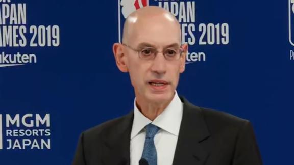 Adam Silver, NBA Commissioner, speaks out on china controversy.