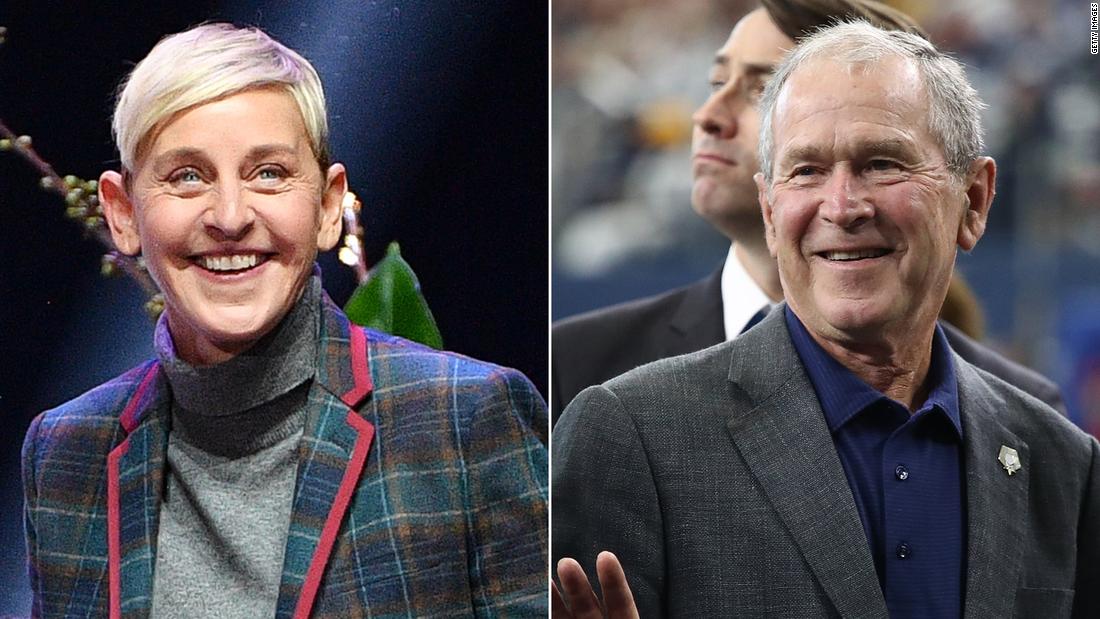 Ellen explains hanging out with George W. Bush