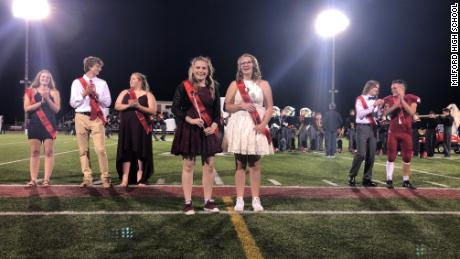 "On Friday night, Milford High School crowned their ""Homecoming Royalty,"" a gender neutral term the school has adopted."