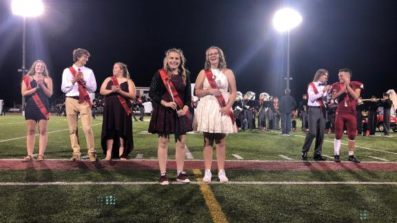 """On Friday night, Milford High School crowned their """"Homecoming Royalty,"""" a gender neutral term the school has adopted."""